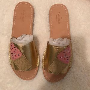 Kate Spade Women's Icey Open Toe Casual Slide -7.5